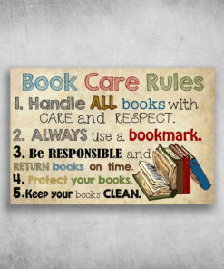 Book Care Rules Handle All Books With Care And Respect