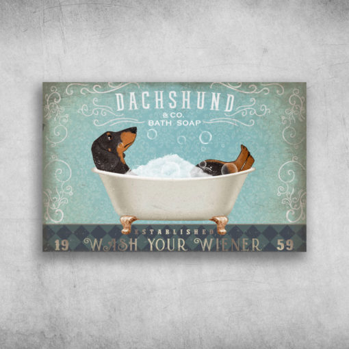 Dachshund Bath Soap Established Wash Your Wiener 1959