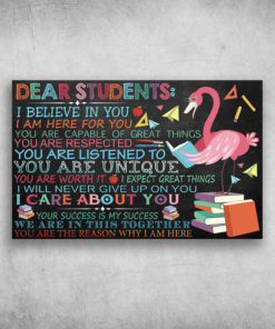 Dear Students I Believe In You Flamingos