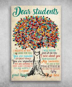 Dear Students I Believe In You Heart Tree