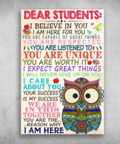 Dear Students I Believe In You I Am Here For You