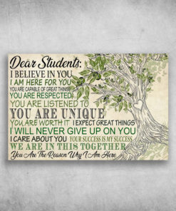 Dear Students I Believe In You I Am Here For You Tree