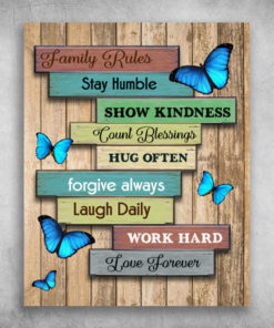 Family Rules Stay Humble Show Kindness