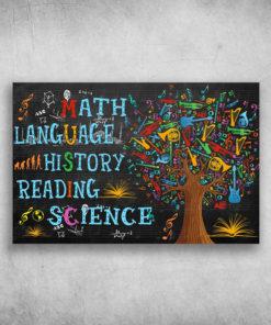 Match Language History Reading Science