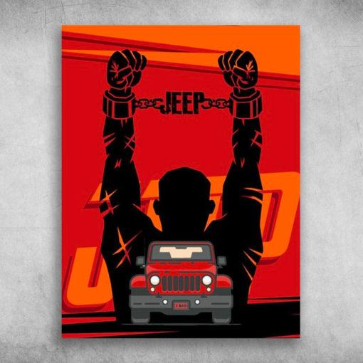 The Jeep Manacling Django Unchained