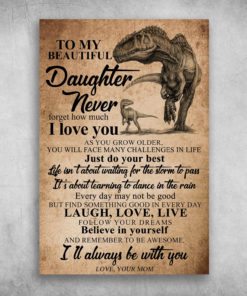 To My Beautiful Daughter Never Forget How Much I Love You