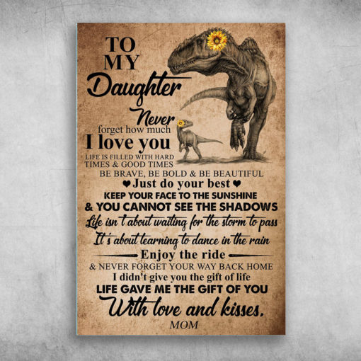 To My Daughter Never Forget That I Love You Mom