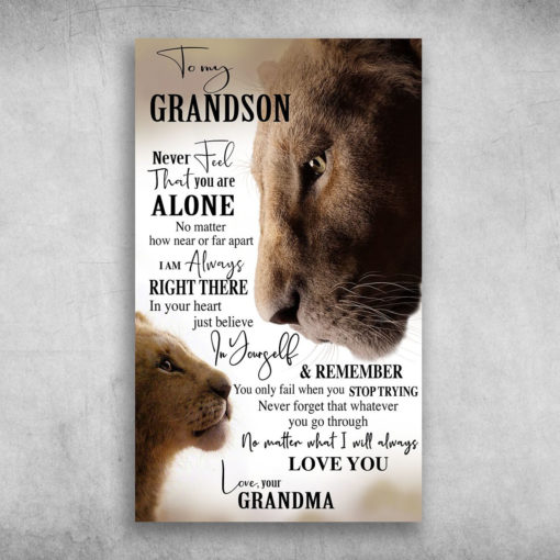 To My Grandson Never Feel That You Are Alone