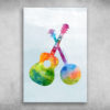 Colorful Guitar And Banjo Go Where It Takes You