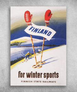 Finland For Winter Sports Finnish State Railways