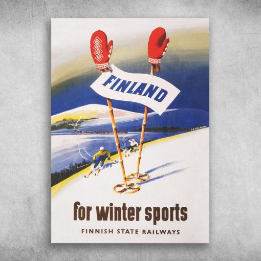 Finland For Winter Sports Finnish State Railways