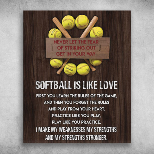 Get In Your Way Softball Is Like Love