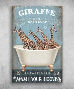 Giraffe Bath Soap Established Wash Your Hooves