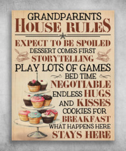 Grandparents House Rules Cupcake What Happens Here Stays Here