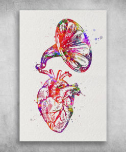 Heart Anatomy Watercolor Proud Cardiologist