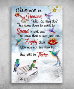 Hummingbird Christmas In Heaven Spend It With You