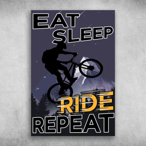 Life Is Like Riding A Bicycle Eat Sleep Ride Repeat