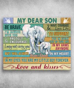 My Dear Son Love And Kisses Elephant
