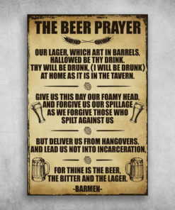The Beer Prayer The Bitter And The Lager Barmen