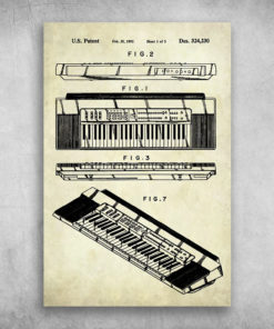 The Piano US Keyboard Patent Feb 25 1992