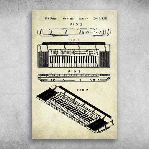 The Piano US Keyboard Patent Feb 25 1992