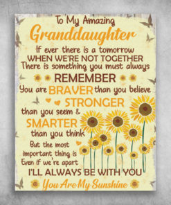 To My Amazing Granddaughter You're My Sunshine