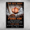 To My Son Never Forget That I Love You Baseball