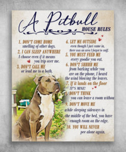 A Pitbull House Rules You Will Never Pee Alone Again