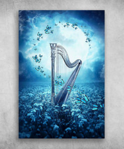 Beautiful Butterfly Moonlight Harp