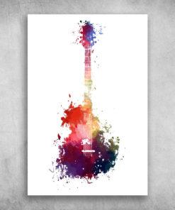 Beautiful Colorful Guitar