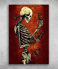 Butterfly Human Skeleton Anatomy New Day Of The Dead