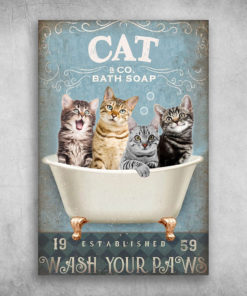 Cats Bath Soap Established Wash Your Paws