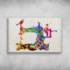 Colorful Watercolor Sewing Machine