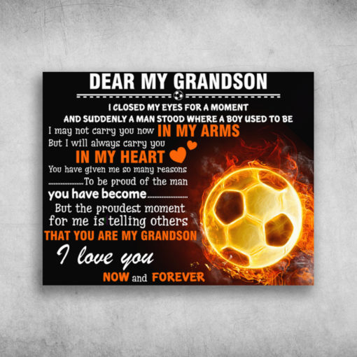 Dear My Grandson I Love You Now And Forever Baseball