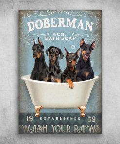 Doberman Bath Soap Established Wash Your Paws