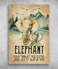 Elephant Find What You Love And Let It Save You