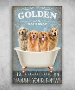 Golden Dog Bath Soap Established Wash Your Paws