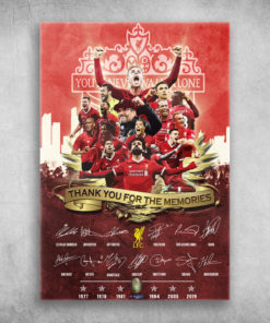 Liverpool FC You'll Never Walk Alone Thank You For The Memories