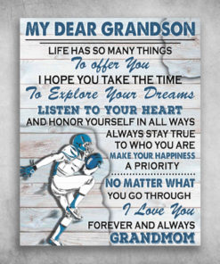 My Dear Grandson I Love You Forever And Always Grandmom