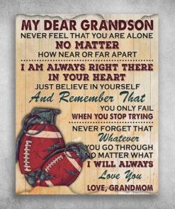 My Dear Grandson I Will Always Love You Love Grandmom