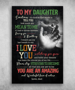To My Daughter How Much You Mean To Me Love Dad