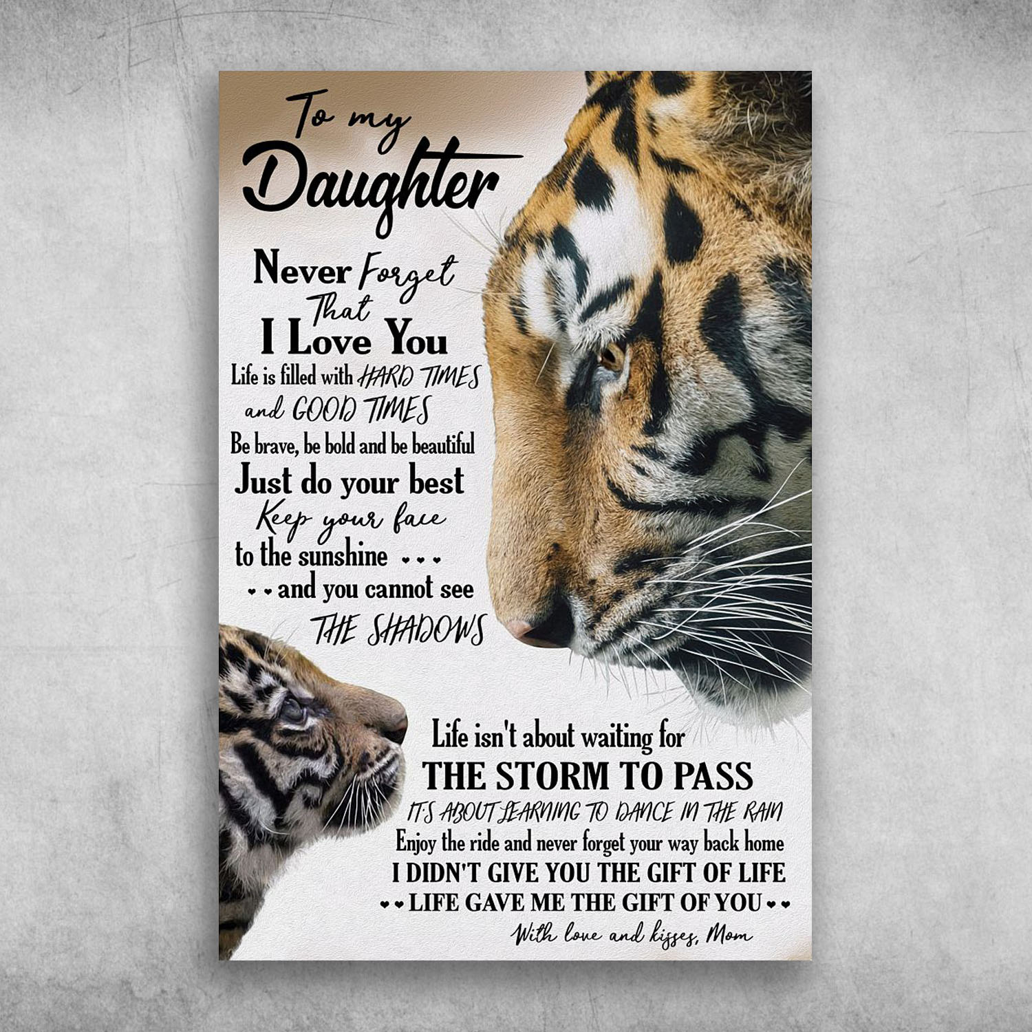 Download To My Daughter Never Forget That I Love You Love And ...