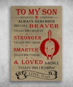 To My Son Always Remember You Are Stronger Than You Seem