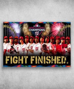 2019 World Series Champions Fight Finished Baseball