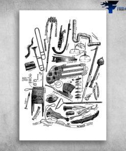 Bass Guitar Community Technical Drawing