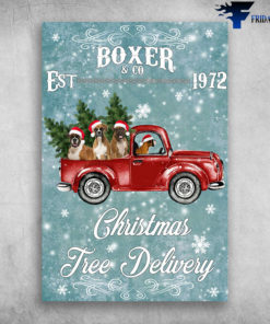 Boxer Dog And Co Est 1972 Christmas Tree Delivery