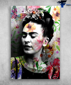 Butterfly Beautiful Floral Frida Kahlo Mexican Artists