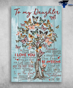 Butterfly Tree To My Daughter You Are My Sunshine Love Mom