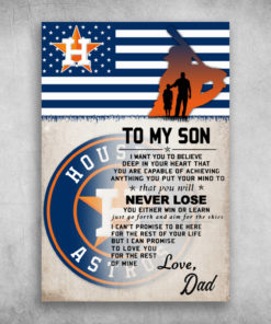 Houston Astros My Son You Will Never Lose