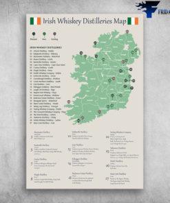 Irish Whiskey Distilleries Map Ireland European